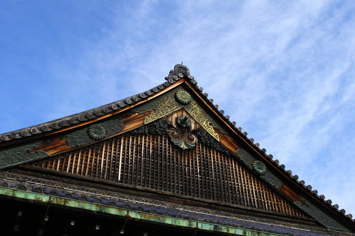 Blue Kyoto Castle