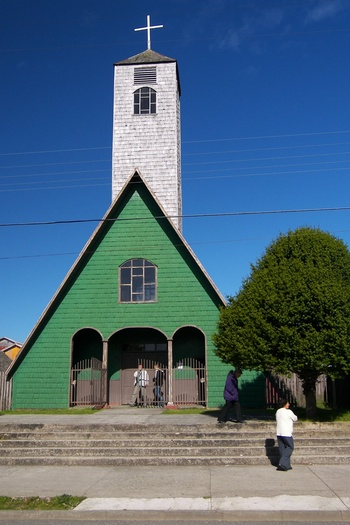 Green and White Church